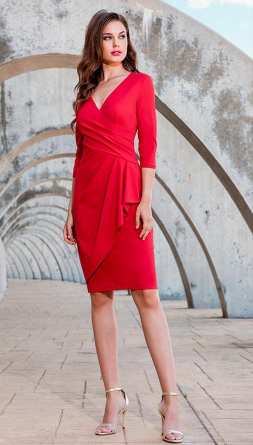 Vestido corto rojo olimara 3190105